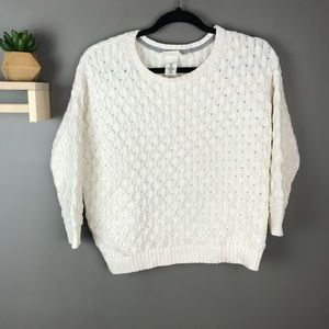 H&M L.O.G.G. knit sweater white size xs